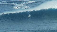 Big Wave Surfers at Jaws, Maui Hawaii Stock Footage