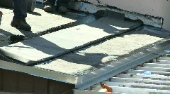 Flat roof installation - Part 1 of 2 Stock Footage