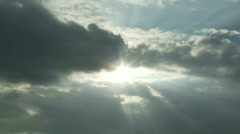 Time Lapse  of Gray Storm Clouds - stock footage