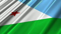 Djibouti Flag Loop 02 Stock Footage