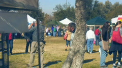 Farmer's Market - Misc. - 10 - arriving and getting an overview Stock Footage