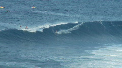 Big Wave Surfers at Jaws, Maui Hawaii - Clip 6 - stock footage