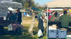 Farmer's Market - Misc. - 1 - coming the back way Stock Footage