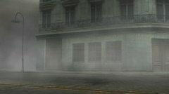 Heavy Fog on Deserted Street Stock Footage