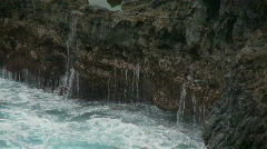 Sea Water Dripping off Rocks -  Clip 1 Stock Footage