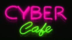 Cyber café. Stock Footage