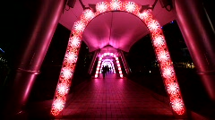 Bridge LED decoration Stock Footage