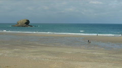 Portreath beach time lapse. Stock Footage