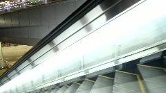 Public access escalator Stock Footage