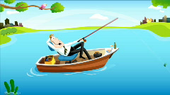 Fishing Time for Businessman #1 Stock Footage