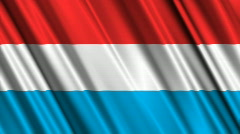 Luxembourg Flag Loop 01 Stock Footage