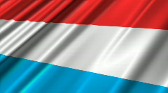 Luxembourg Flag Loop 02 Stock Footage