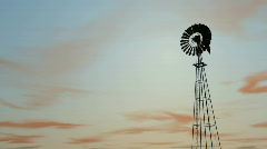 Db windmill 03 sunset hd1080 Stock Footage