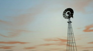 Stock Video Footage of db windmill 03 sunset hd1080