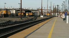 Train depot Stock Footage