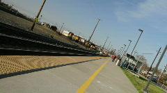 Train railyard Stock Footage