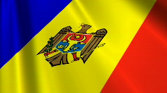 Moldova Flag Loop 03 Stock Footage