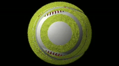 Multi Sports Ball Loop-16 Sec Y Rotate-1080p Stock Footage