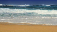 Gentle Waves on a Tropical Beach Stock Footage