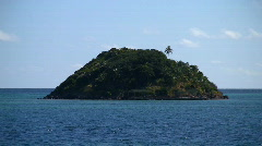 Island zoom out 01 Stock Footage