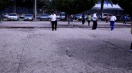 Petanque Championship Stock Footage
