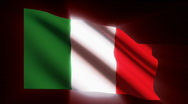 Italy Flag - HD - looping Stock Footage