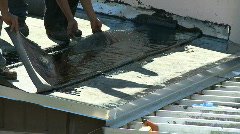 Flat roof installation - Part 2 of 2 Stock Footage