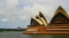 Sydney Opera House From The Harbor Stock Footage