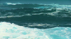 Giant Breaking Ocean Waves Stock Footage
