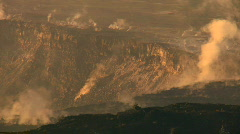 Hot Steam Energy From Volcanic Crater Stock Footage