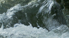 Flowing Water - Rapids in Rocky River, Slow Motion, Closeup - stock footage