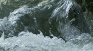 Flowing Water - Rapids in Rocky River, Slow Motion, Closeup Stock Footage