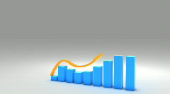 3d growing business chart graph  1080p - stock footage