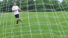 Soccer Goal Kick Stock Footage