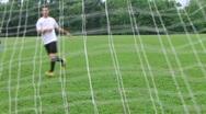 Soccer Goal Kick Stock Footage