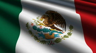 MEXICO FLAG-close-up Stock Footage