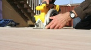 Stock Video Footage of Circular Saw (Multiple Shots)