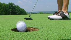 Golfer Sinks Putt 02 - stock footage