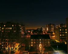 Full Moon Time Lapse - London, UK Stock Footage