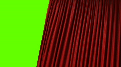 Opening red curtain, realistic, hd Stock Footage