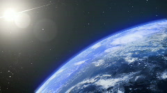 Turning earth Stock Footage