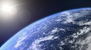 Turning earth loop Stock Footage