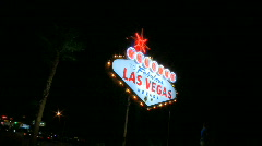 Fabulous Vegas sign (3 of 4) Stock Footage