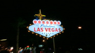 Stock Video Footage of Vegas sign at night - medium zoom (1 of 4)