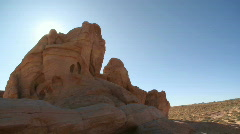 Rock formations in the Valley of Fire (11 of 20) - stock footage