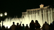 Stock Video Footage of Visitors take photos of Bellagio fountains (3 of 3)