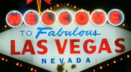 Stock Video Footage of Welcome to Las Vegas sign