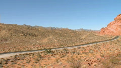A desolate road in the Southwest - stock footage
