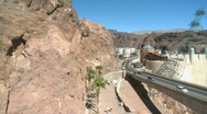 Stock Video Footage of Cars cross the Hoover Dam entering Nevada