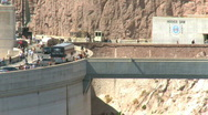 Stock Video Footage of Visitors come to see the Hoover Dam